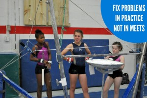 Fix problems in practice not in meets