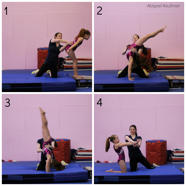 how to get a back handspring quickly