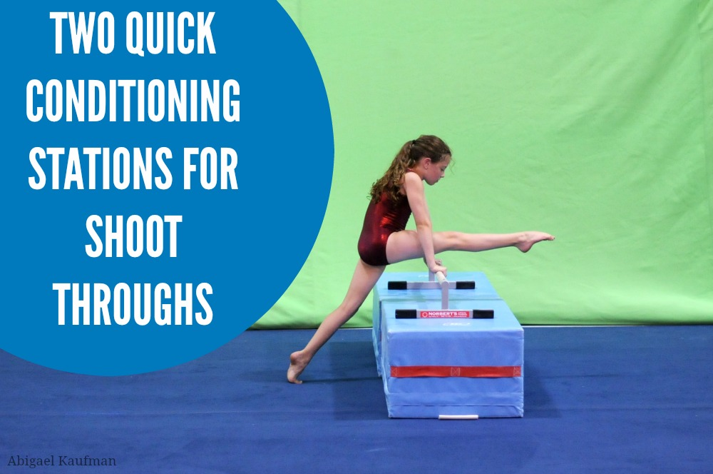 Two quick conditioning stations for shoot throughs
