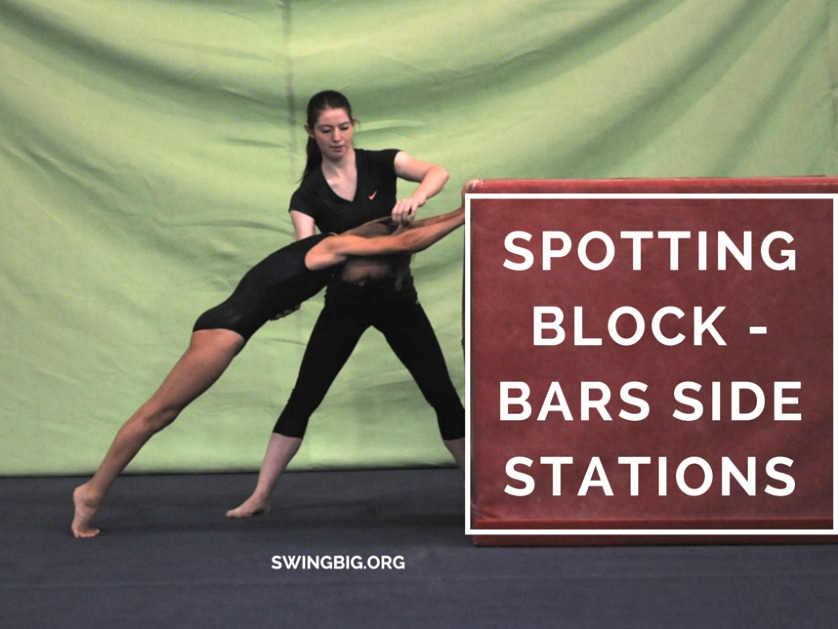 Spotting block bars side stations