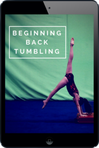 Beginning Back Tumbling - Where to start with pre-school and rec - ipad