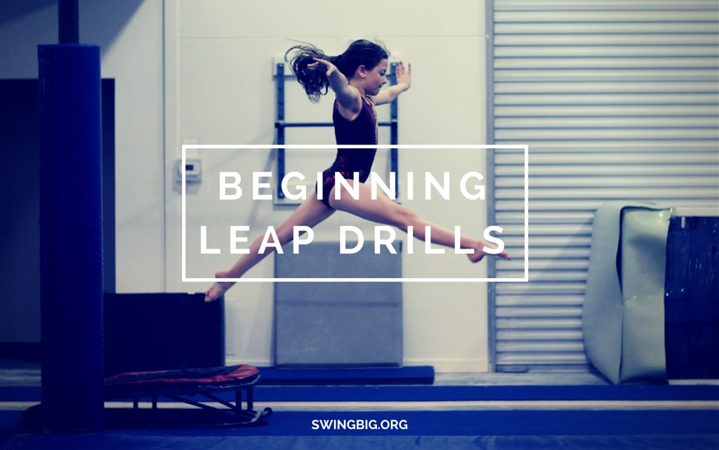 Beginning leap drills